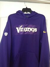 Nike Minnesota Vikings Pullover Therma Fit Training Hoody - Size L