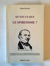 QU'EST CE QUE LE SPIRITISME 1988 KARDEC