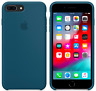 iPhone 8 / 7 PLUS Apple Original Handy Echt Silikon Schutz Hülle - Kosmos Blau