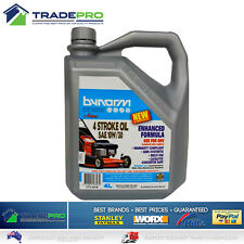 Lawnmower Oil 4Ltr SAE 10W/30 4 Stroke Bynorm Semi Synthetic Lawn Mower Fluid 4L
