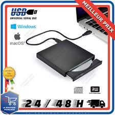 Lecteur Graveur CD DVD Externe Portable RW ROM USB C 2.0 PC Windows Mac Linux OS