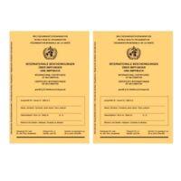 2 Stück: Internationaler Impfausweis Impfpass Impfbuch neu 2er Set Impfausweise