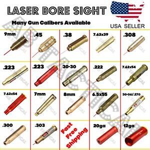 Laser Bore Sight BoreSighter Gun Cartridge Many Calibers Available!