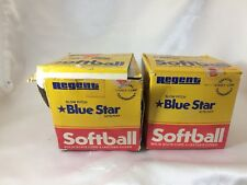 2 Regent Slow Pitch Blue Star Softball (Solid State Core) Nite/Day