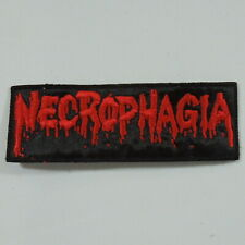 NECROPHAGIA Band Logo (RED Embroidered Small Patch) (NEW)