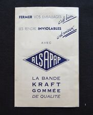 Ancien catalogue échantillon ALSAPAP bande Kraft gommée Albert HEITZ Paris