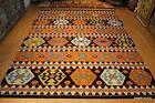9' x 12' Southwestern style hand woven kilim SHIRVAN CAUCASIAN Black  ORANGE RUG