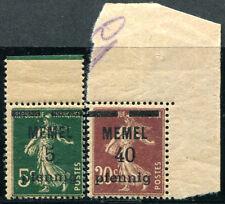 MEMEL 1920 18a,22a ** POSTFRISCH GC-PAPIER 55€(J0062