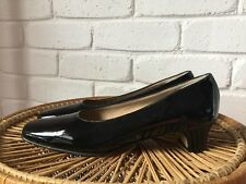 Amalfi by Rangoni Black Patent Leather Work Court Shoe Made in Italy Size 8.5