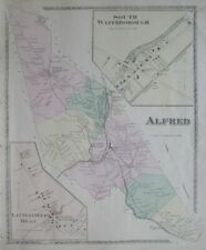 Original 1872 Map ALFRED Shaker Village York County Maine Mousam River Saw Mill