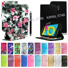 For Alcatel U5 A3 A5  PIXI New Genuine Luxury PU Leather Wallet Phone Case Cover