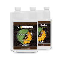 Tierra A&B - Hydroponic Nutrient Solutions - Formulated for organic soil (Enhanc