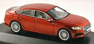 Audi A5 Sportback 2016-20 Type: F5 Matadorrot Matador Red Metallic 1:43 Spark
