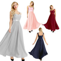 Elegant Women Prom Dress Bridesmaid Party Formal Evening Ball Gown Wedding Dress