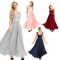 Elegant Women Prom Dress Bridesmaid Party Formal Evening Ball Gown Wedding Dress