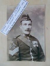 MILITARY PHOTOGRAPH - GORDON HIGHLANDERS - COLOUR SERGEANT c1899 - m1137