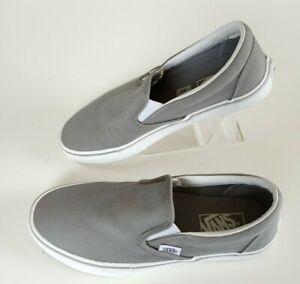 Vans Classic Slip-On Shoes Gray/white US Men 7 Women 8.5