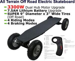 All Terrain Off Road Electric Skateboard Longboard Mountainboard Cross Country