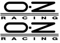 X2 PEGATINA RACING COCHE MOTO CASCO ETC... OZ RACING 12CM X 2.5CM