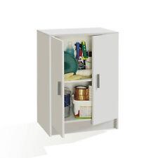 Armario Multiusos 2 puertas Blanco / Mueble auxiliar bajo con estante