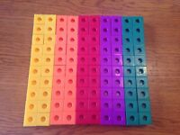 100 Piece Lot Learning Resources Math Snap Cubes Blocks Counting Building Color