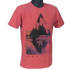 Oakley PALMS T-Shirt Size L Large Red Marle Mens Boys Slim Fit Cotton Logo Tee
