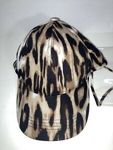 Chic Tweak Women's Leopard Print Baseball Hat Cap with Plastic Face Shield Snap