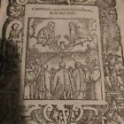 Breviary Hortulus Animae Woodcut Contemplation of Spirit. Father & Son Year 1550