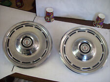 "TWO 1976 - 1980 PLYMOUTH VOLARE DODGE CHARGER ASPEN 14"" WHEEL COVERS HUB CAPS"