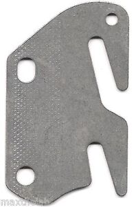 """Bed Rail Double Hook Flat Plate Fits 2"""" Bracket or Bed Post 13 ga. Steel USA"""