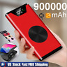 Qi Wireless Power Bank 900000mAh USB Portable Fast Charging Battery Charger Pack
