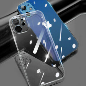 Case For iPhone 11 12 Pro Max Shockproof Silicone Cover Lens Screen Protector