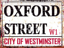 OXFORD ST LONDON STREET SIGN METAL WALL SIGN RETRO  STYLE12x16in 30x40cm shed