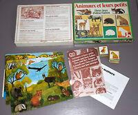 """ANIMAUX et leurs petits""  jeu NATHAN 1983"