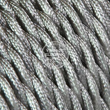 Platinum Twisted Cloth Covered Electrical Wire - Braided Rayon Fabric Wire