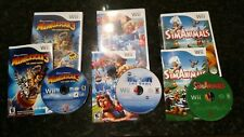 Lot of 3 Wii Games, Madagascar 3, Wipeout The Game, Sim Animals