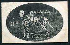 Old Calabar dog food biscuits advertising 1906 dalmatian dog vintage postcard