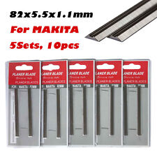 82mm Planer Blades 10pcs (5pack) 65Mn Wood Working MAKITA HITACHI RYOBI TOSHIBA