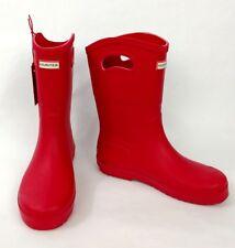 Hunter Kids' Tall Rain Boots - Red, size 5