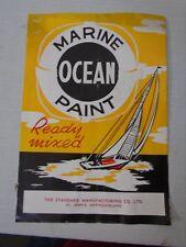 OCEAN MARINE PAINT Color Sample Brochure Standard MFG St Johns NL Boat Ship