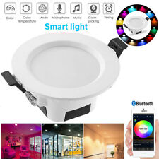 RGB Color Changing Smart LED Spotlight 5W App Control WW/CW LED Ceiling Lights