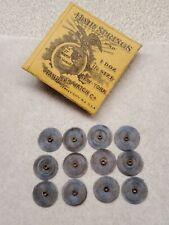 1 Dozen New York Standard 16s Or 18s Blued Hairsprings