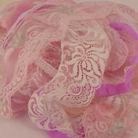 Lace,  Bundle of Mixed Off Cuts Doll Gift Wrapping Arts and Crafts 10 x 1 M
