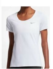 cheap for discount 30516 4af07 Nike Women s Legends Short Sleeve T-Shirt Dry Fit Workout White Size Small