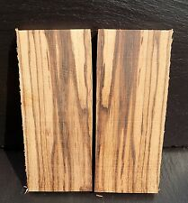 ZEBRANO ZEBRAWOOD BOOK MATCHED KNIFE SCALES KNIFE MAKING