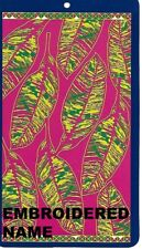 """40"""" x 72"""" Oversized Name Embroidered Beach / Pool Towel With Palm Cluster Design"""