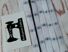 100 pack 1 2 3 4 5 size clothing labels WHITE sew in woven tags FREE POST in AU