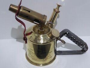 Original Sievert Sweden Vintage Brass Blow Torch Lamp 3/4 PINT - Great Display