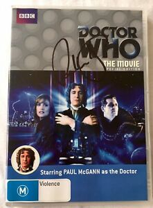 Doctor Who: The Movie Special Edition 2-Disc DVD - Hand Signed By Paul McGann
