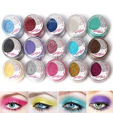 Shiny 15 Pearl Metallic Loose Glitter Eyeshadow Pigment Powder Lady Makeup Tool
